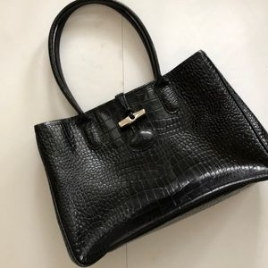 Longchamps Black Leather Purse